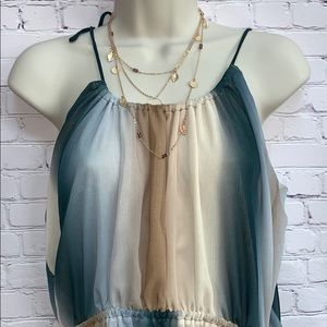 H&M Tops - 5/$25 Ombré Blouse adjustable ties & gather @waist